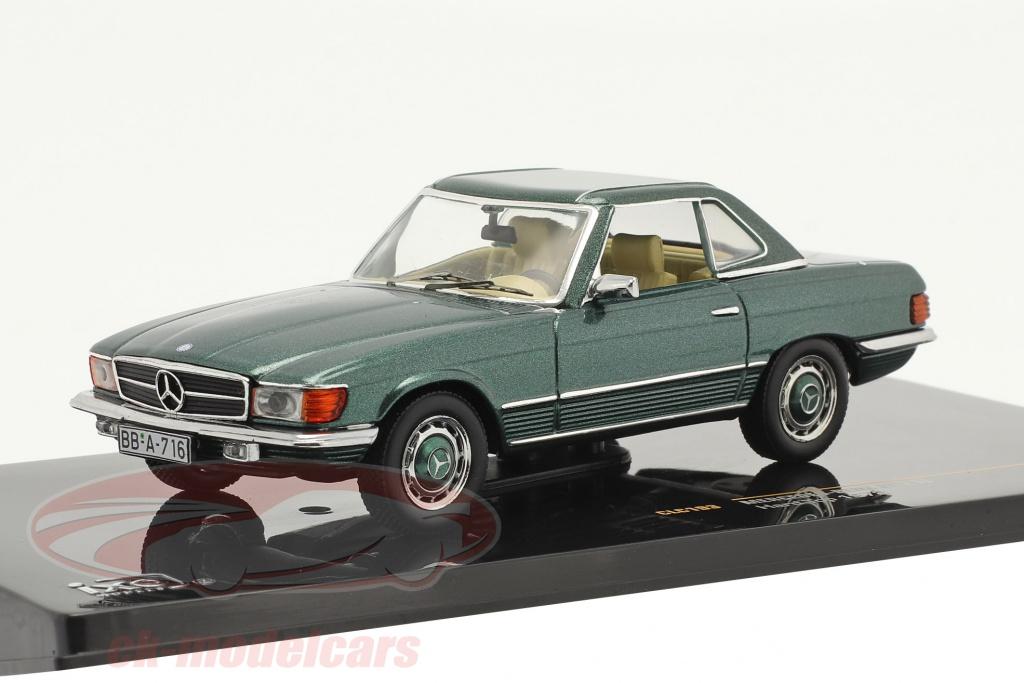 ixo-1-43-mercedes-benz-350-sl-hardtop-bouwjaar-1972-groen-metalen-clc193/