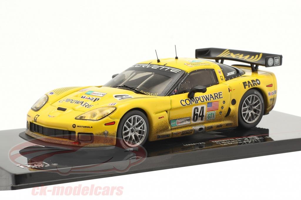 ixo-1-43-corvette-c6-r-no64-24h-lemans-2007-beretta-gavin-papis-lmm125/