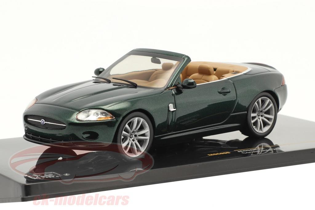 ixo-1-43-jaguar-xk-cabriolet-bygger-2005-mrkegrn-metallisk-moc080/