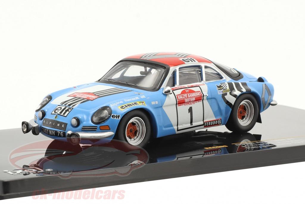 ixo-1-43-alpine-renault-a110-1800-no1-winnaar-rallye-sanremo-1973-rac099/