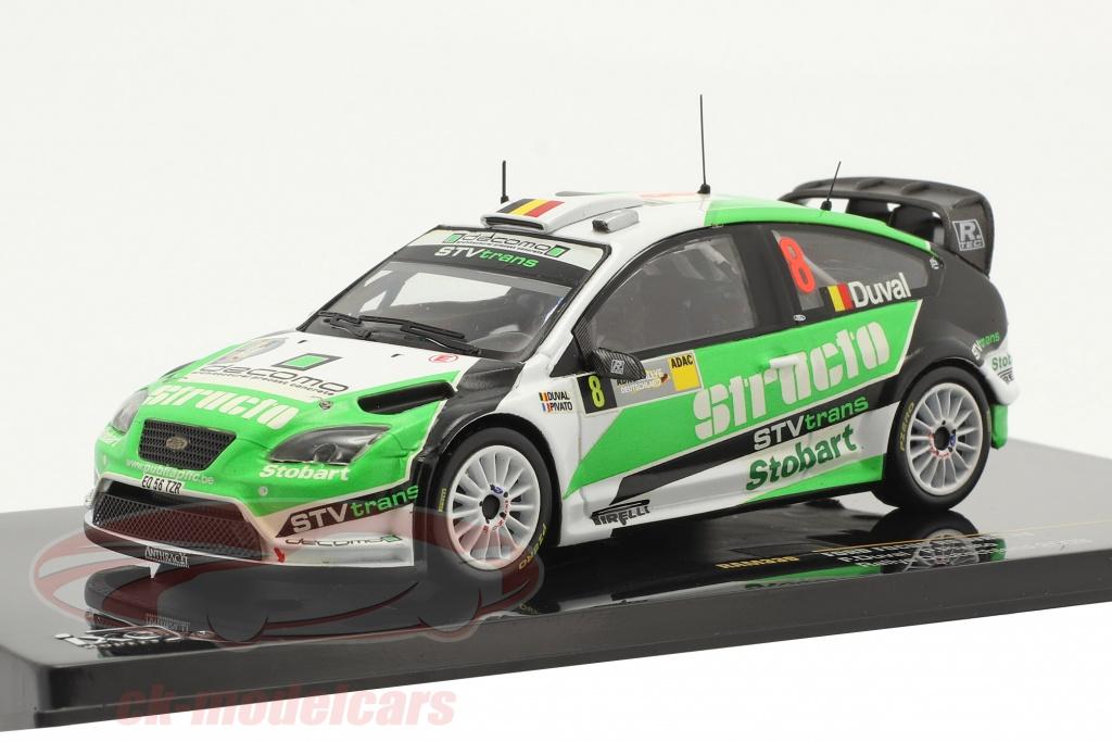 ixo-1-43-ford-focus-rs-wrc-no8-3e-rallye-duitsland-2008-duval-pivato-ram339/
