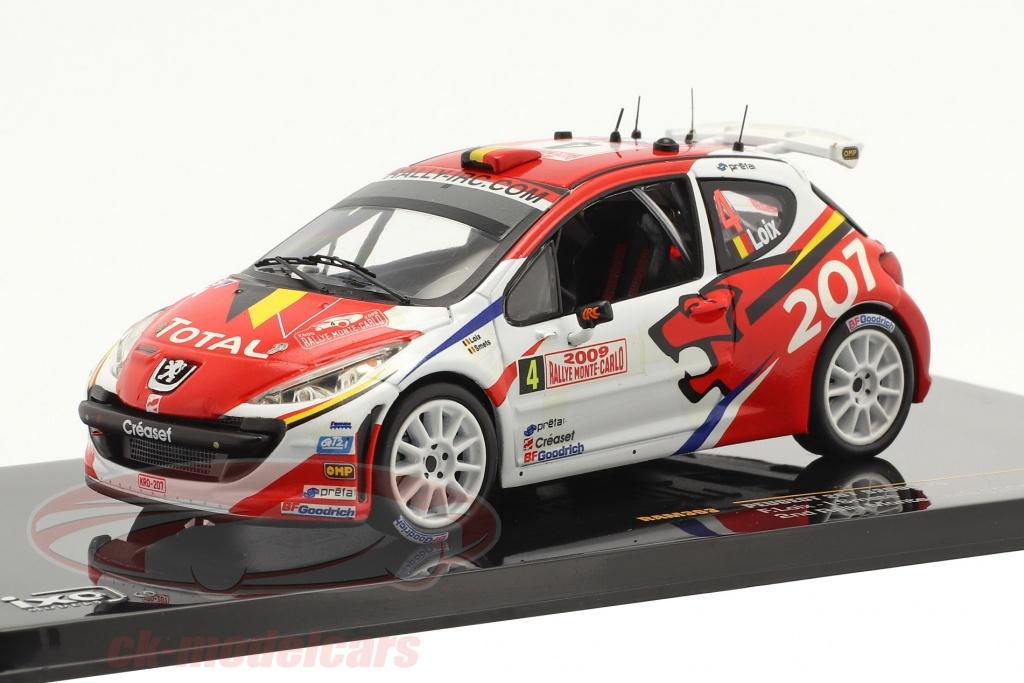 ixo-1-43-peugeot-207-s2000-no4-2-plads-rallye-monte-carlo-2009-loix-smets-ram363/