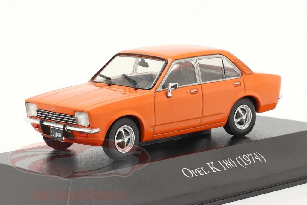 altaya-1-43-opel-k-180-4-portes-annee-de-construction-1974-orange-magarg24/