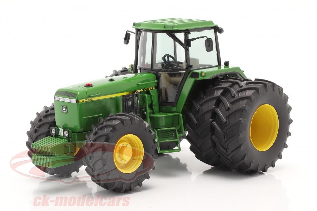 schuco-1-32-john-deere-4755-tractor-with-double-tires-1989-1991-green-450778900/