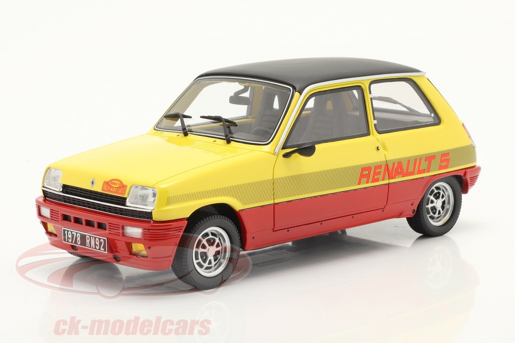 ottomobile-1-18-renault-r5-ts-montecarlo-bygger-1978-rd-gul-sort-ot891/