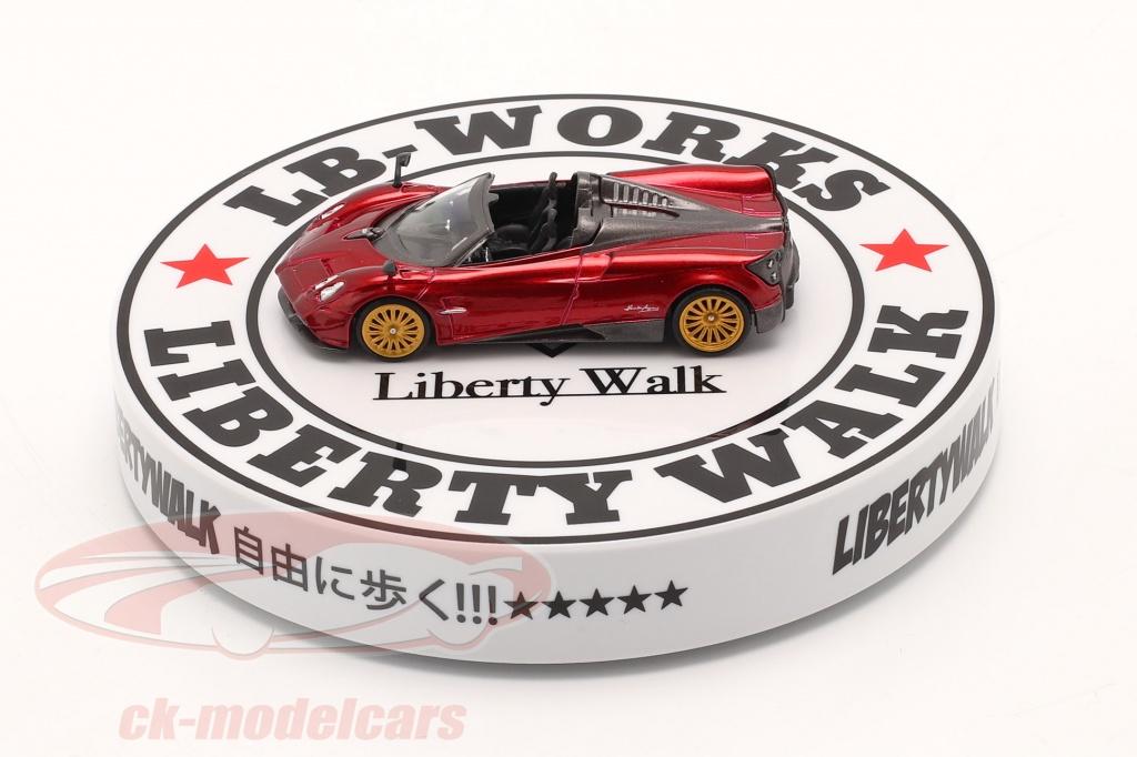true-scale-1-64-lb-works-liberty-walk-type-a-plaque-tournante-blanc-noir-mgtac13/