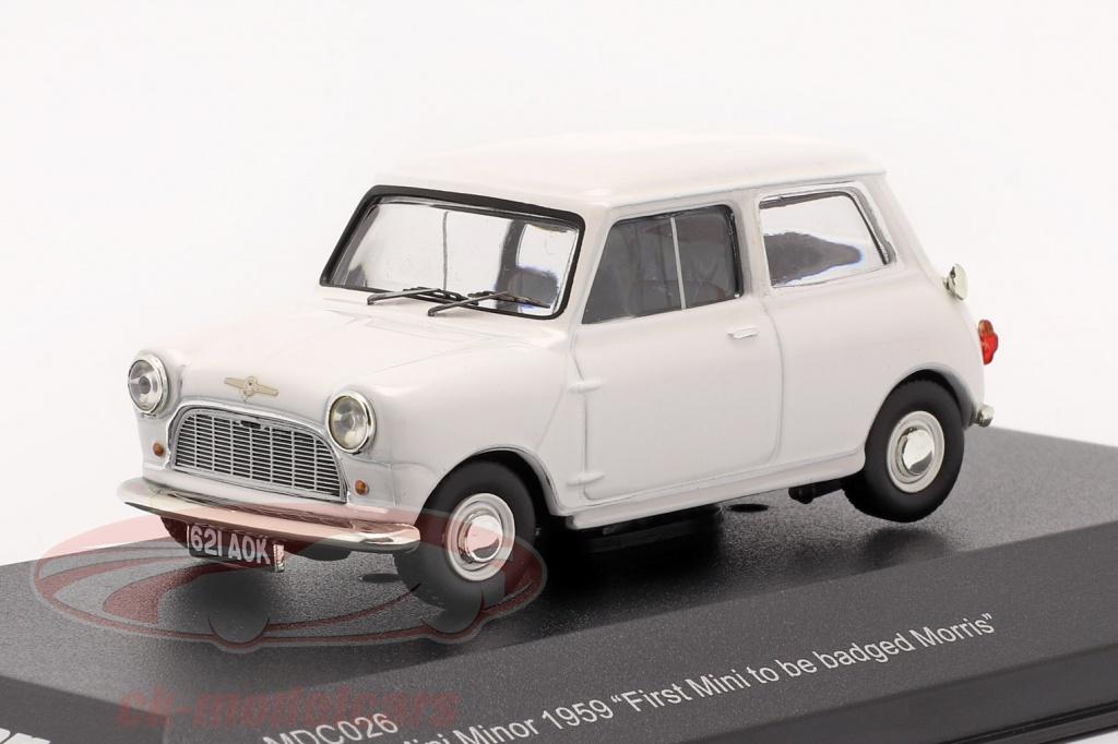 ixo-1-43-morris-mini-minor-1959-blanc-first-mini-to-be-badged-morris-mdc026/