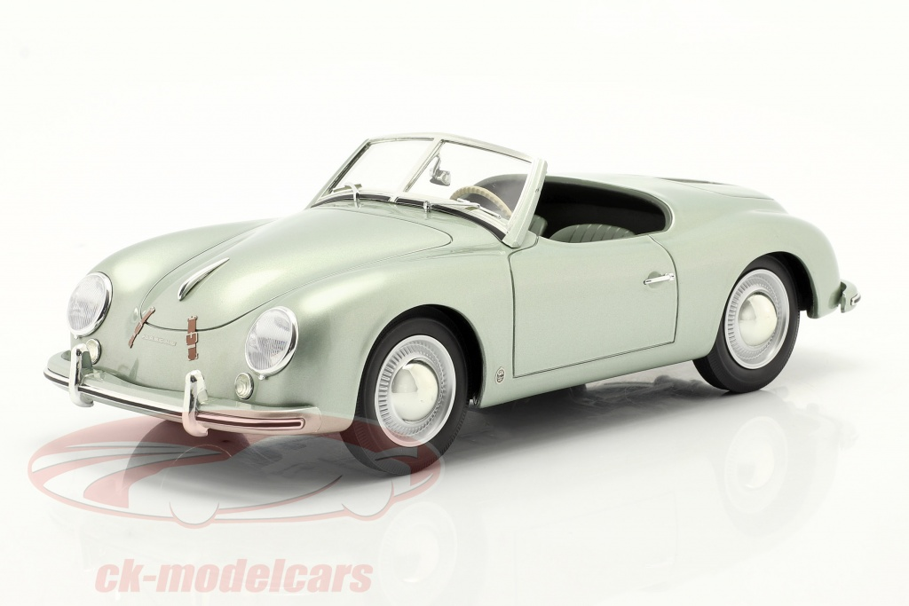 cult-scale-models-1-18-porsche-356-america-roadster-1952-zilver-groen-metalen-cml044-2/