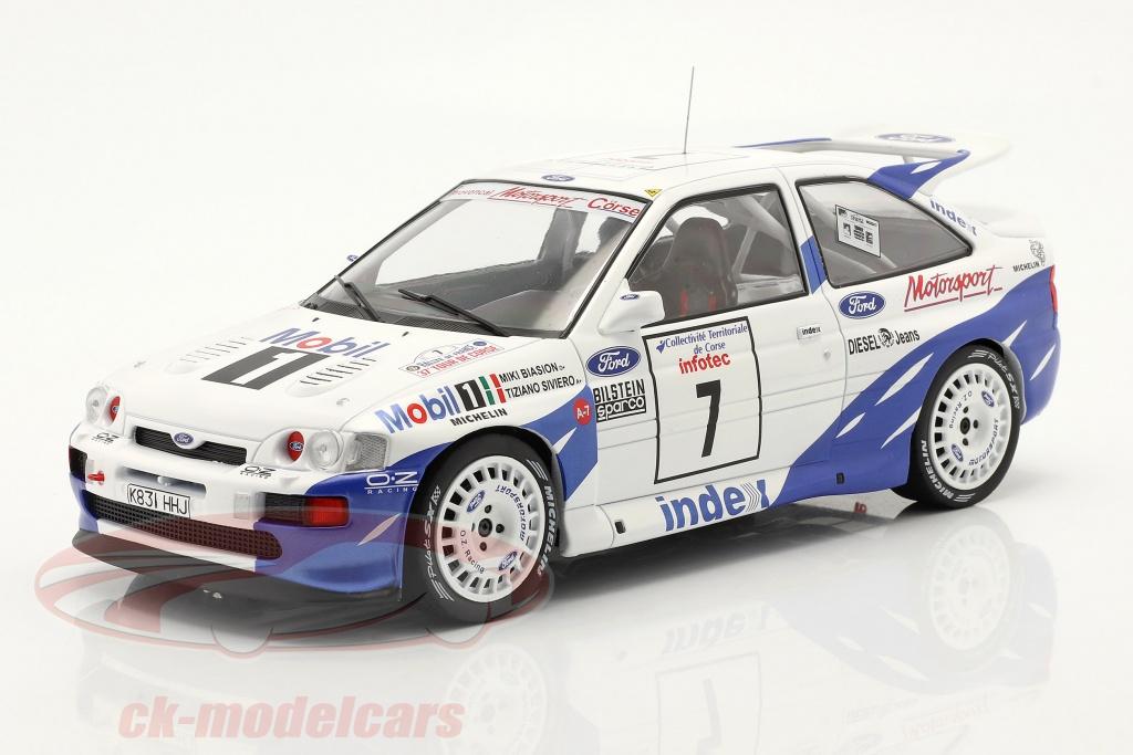 ixo-1-18-ford-escort-rs-cosworth-no7-7e-rallye-tour-de-corse-1993-biasion-siviero-18rmc055b/