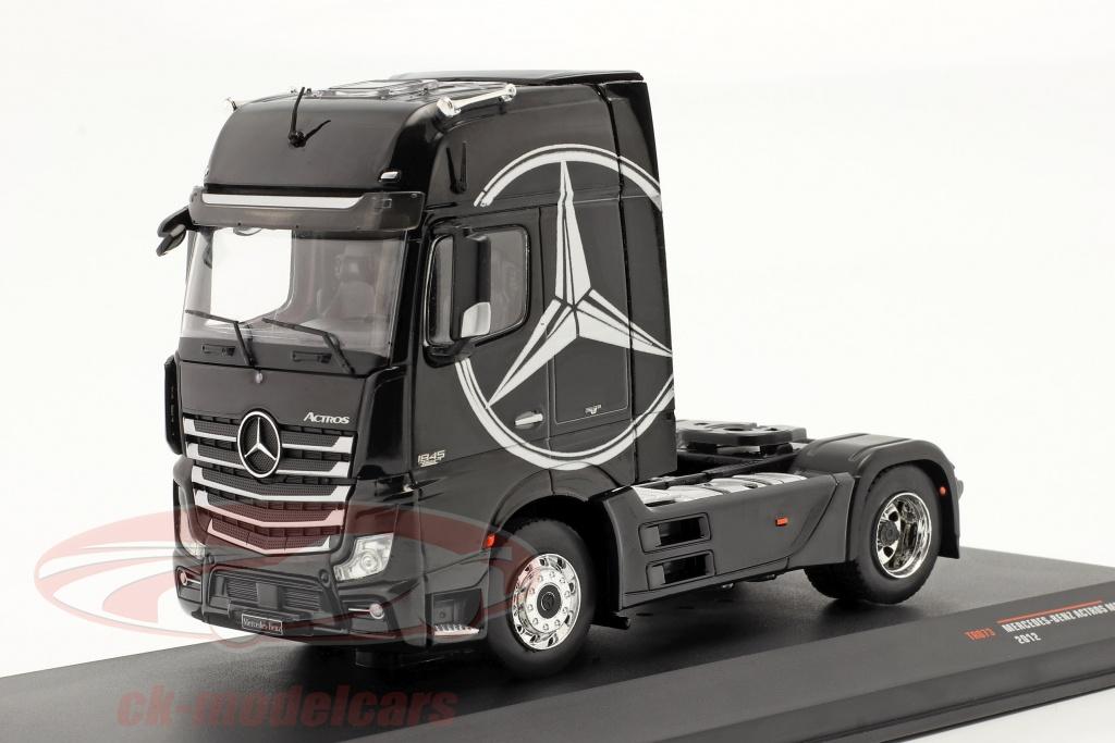 ixo-1-43-mercedes-benz-actros-mp4-vrachtauto-bouwjaar-2012-zwart-tr073/