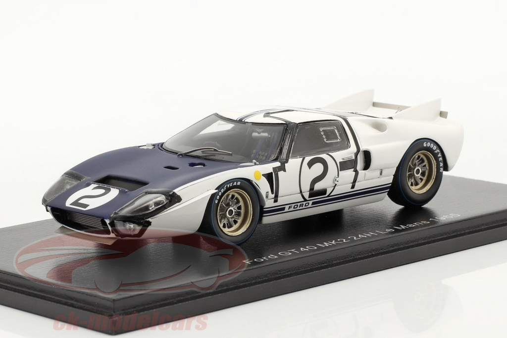 spark-1-43-ford-gt40-mk2-no2-24h-lemans-1965-amon-hill-s4533/