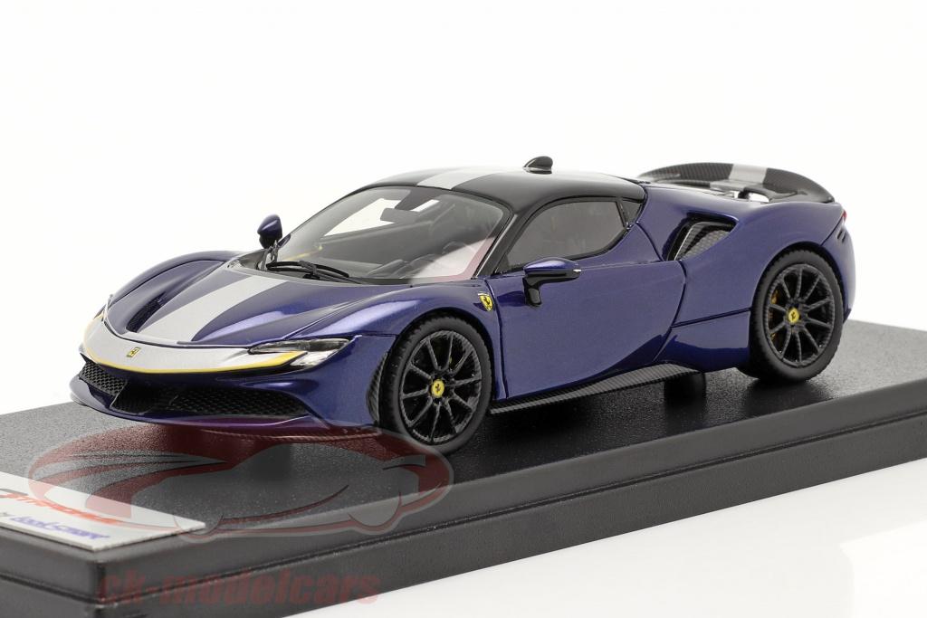 looksmart-1-43-ferrari-sf90-stradale-bouwjaar-2019-blauw-metalen-ls504i/