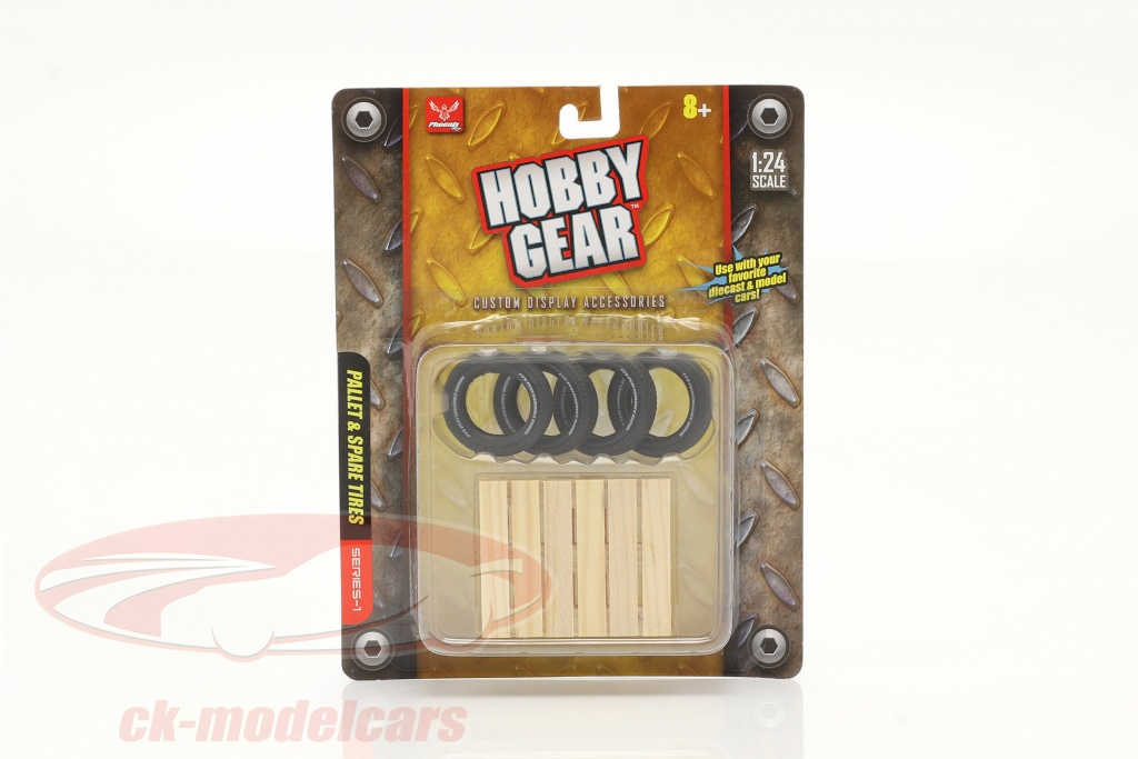 spare-tire-set-4-piece-with-pallet-1-24-hobbygear-hg17014/