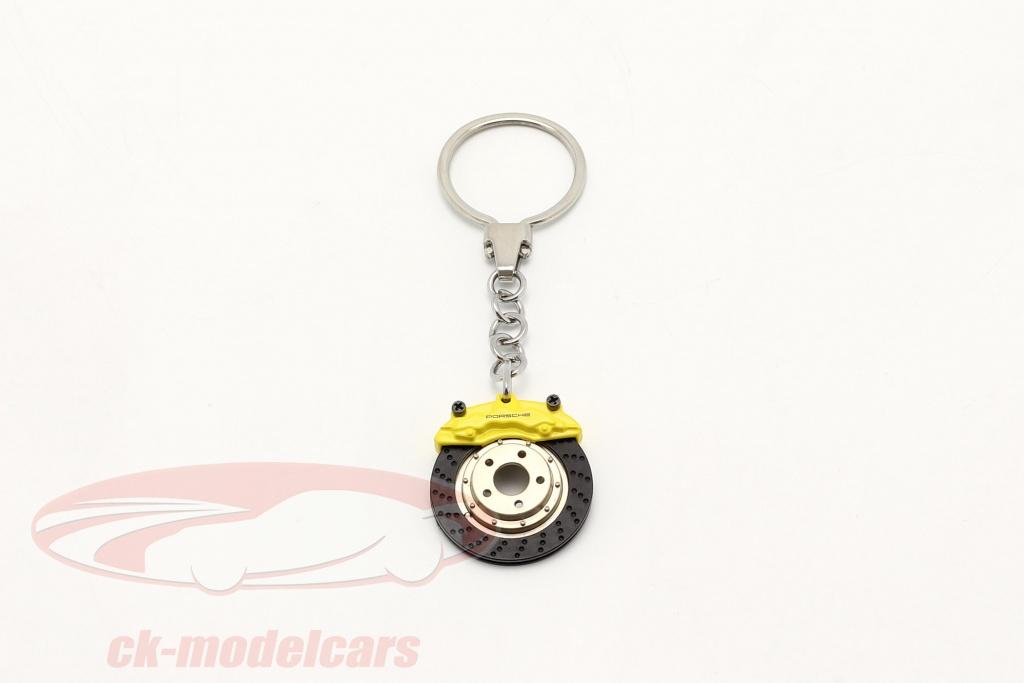 porsche-key-chain-brake-disc-yellow-autoart-map04506618/