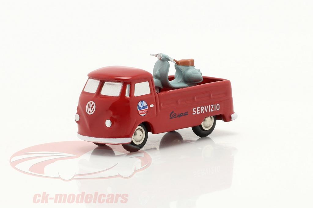 schuco-1-90-volkswagen-vw-t1-pick-up-vespa-service-rouge-piccolo-450563600/