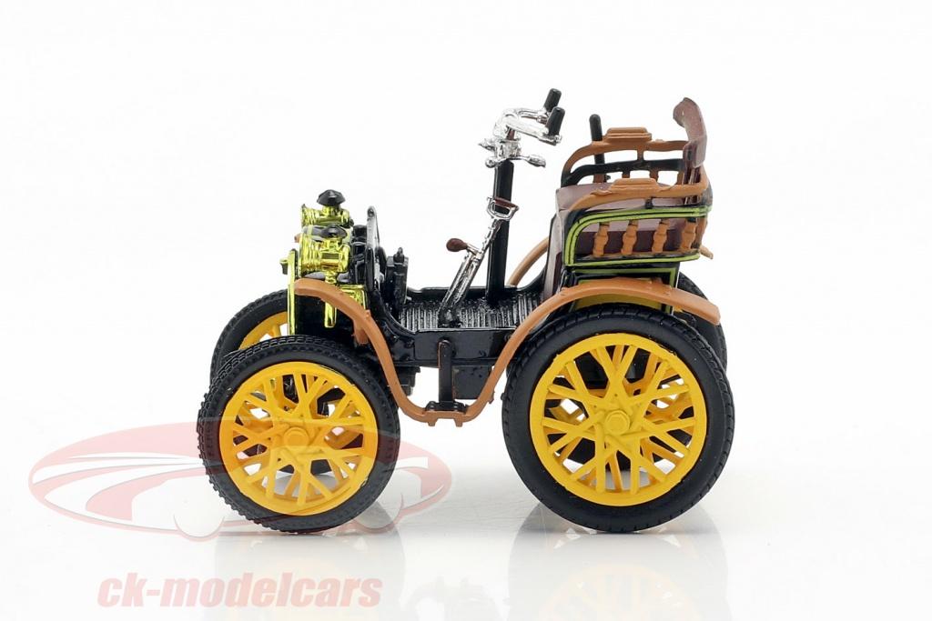 norev-1-43-renault-voiturette-type-a-bouwjaar-1899-zwart-bruin-geel-ck70202/