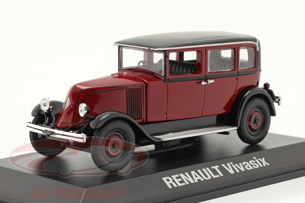 norev-1-43-renault-vivasix-type-pg2-anno-di-costruzione-1928-rosso-nero-7711575947/