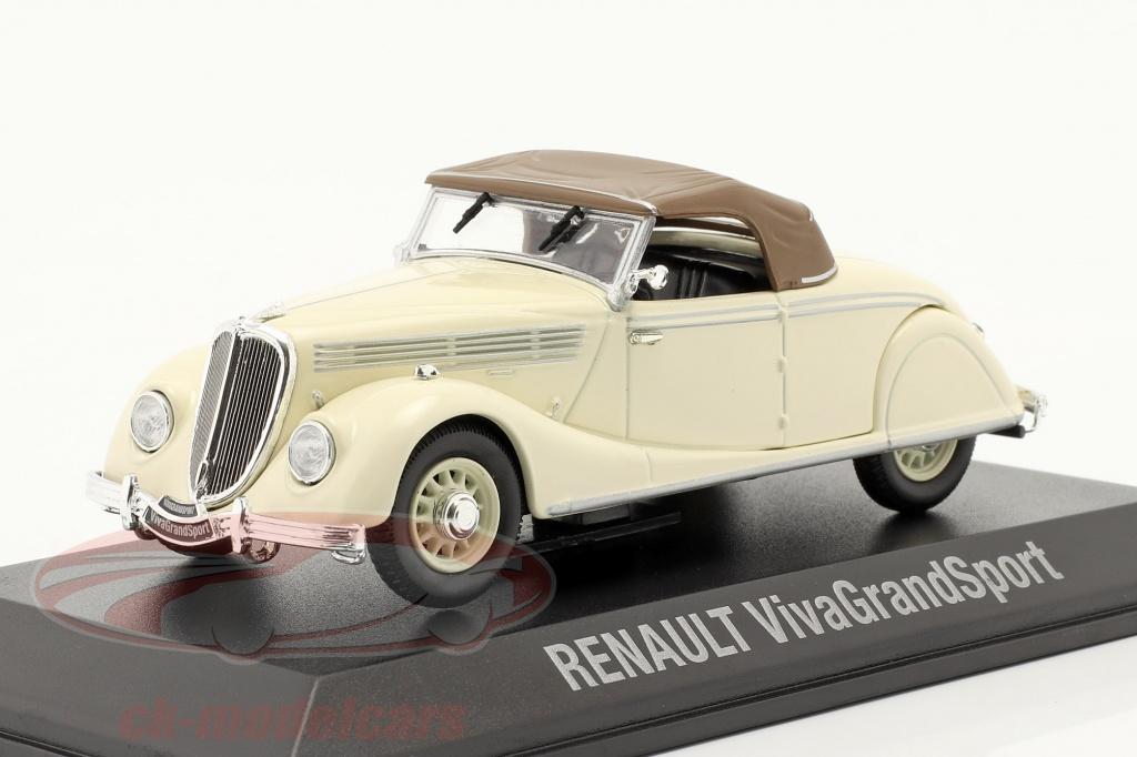 norev-1-43-renault-viva-grand-sport-annee-de-construction-1935-1939-creme-blanche-brun-7711575948/