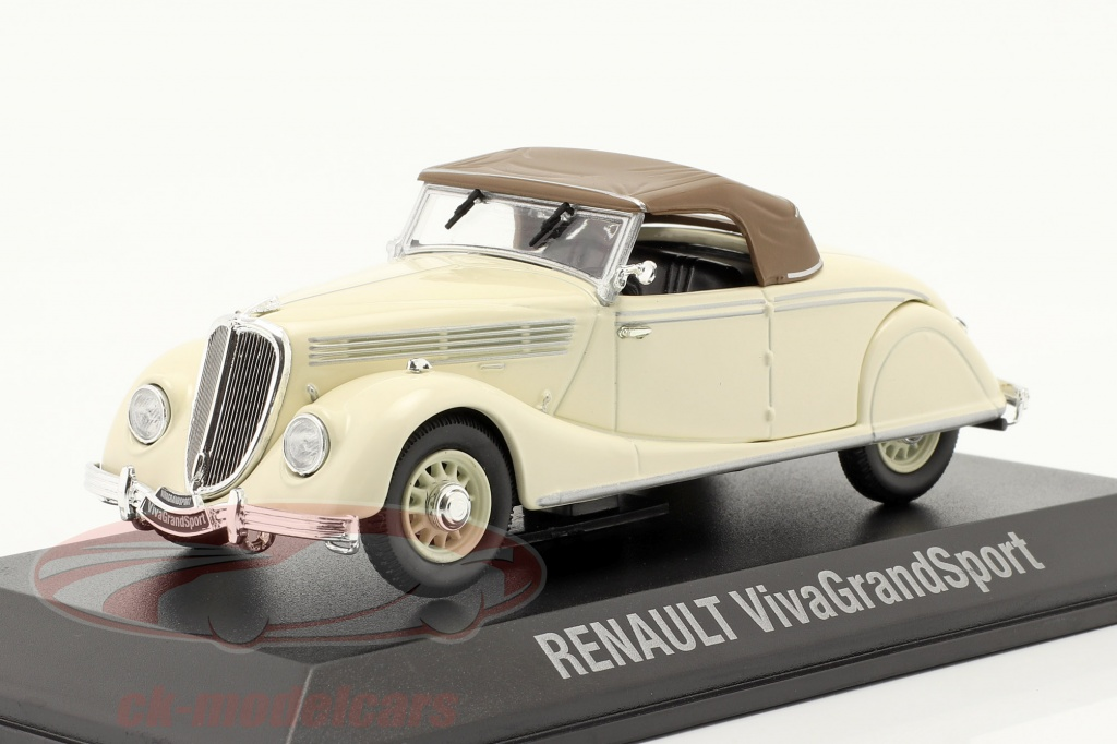 norev-1-43-renault-viva-grand-sport-anno-di-costruzione-1935-1939-crema-bianca-marrone-7711575948/