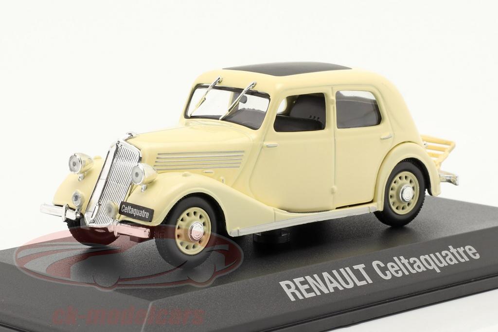 norev-1-43-renault-celtaquatre-year-1934-1938-cream-white-7711575945/