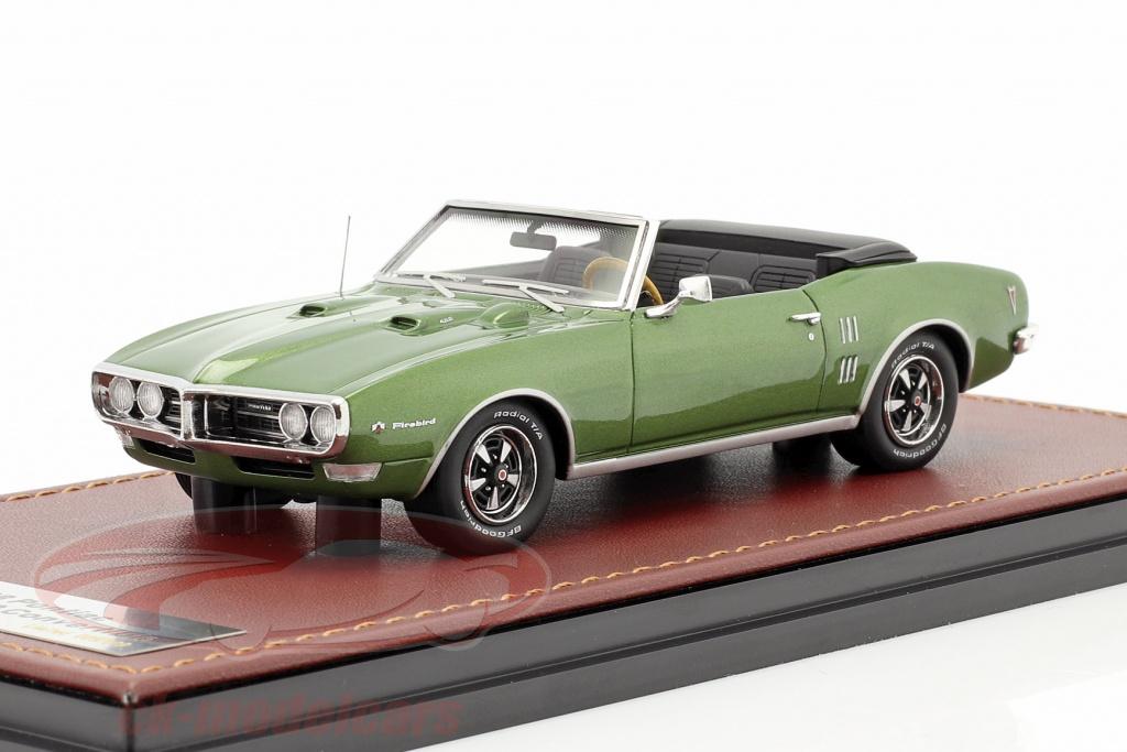 great-lighting-models-1-43-pontiac-firebird-400-open-convertible-year-1968-green-metallic-glm191003/