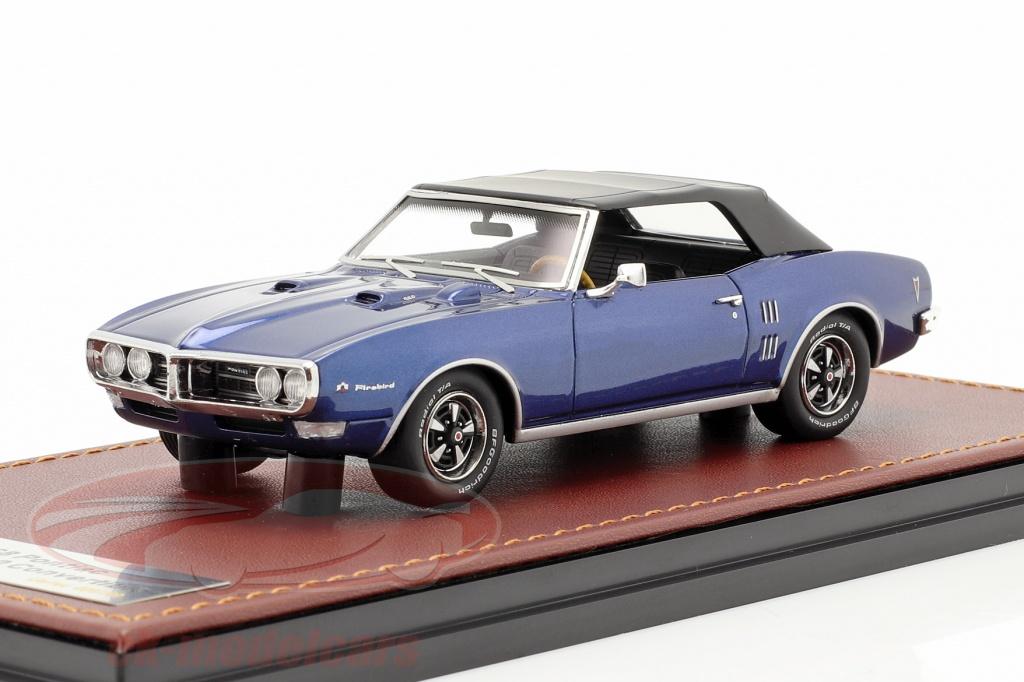 great-lighting-models-1-43-pontiac-firebird-400-ferme-convertible-1968-bleu-fonce-le-noir-glm191006/
