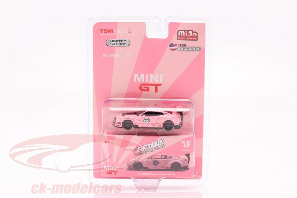 true-scale-1-64-lb-works-nissan-g-tr-r35-modelo-2-lhd-pink-pig-em-blister-mgt00076-l-mijo/