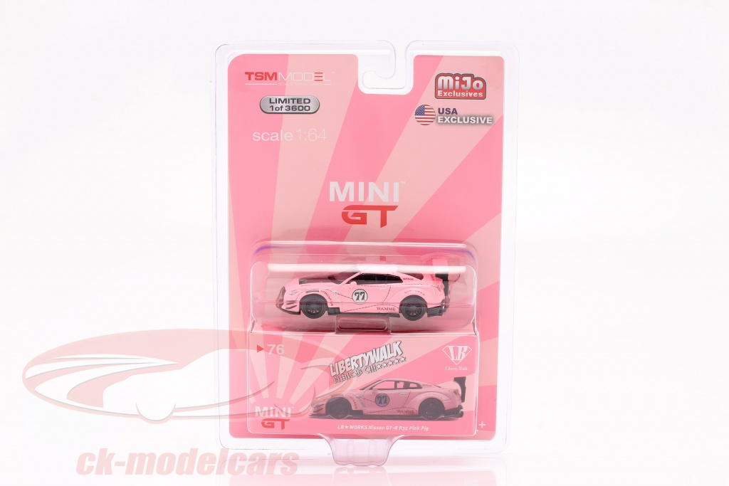 true-scale-1-64-lb-works-nissan-g-tr-r35-tipo-2-lhd-pink-pig-in-blister-mgt00076-l-mijo/