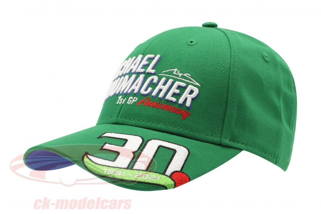 michael-schumacher-casquette-premiere-formule-1-gp-spa-1991-vert-ms-21-091/