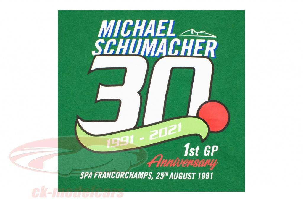 michael-schumacher-t-shirt-premiere-formule-1-gp-spa-1991-vert-ms-21-191/s/