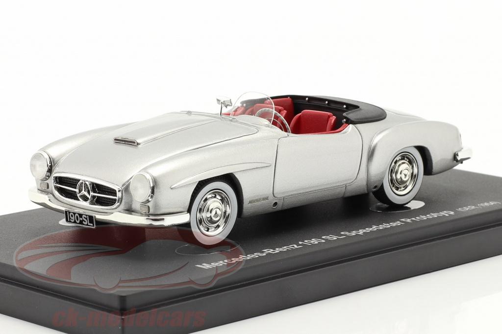 autocult-1-43-mercedes-benz-190-sl-speedster-voorlopig-ontwerp-1954-zilver-60059/