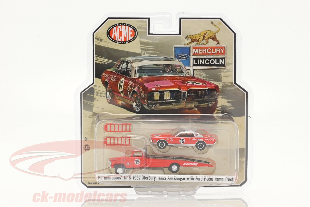 gmp-1-64-ford-f-350-ramp-truck-med-mercury-trans-am-cougar-no15-jones-parnelli-51343/