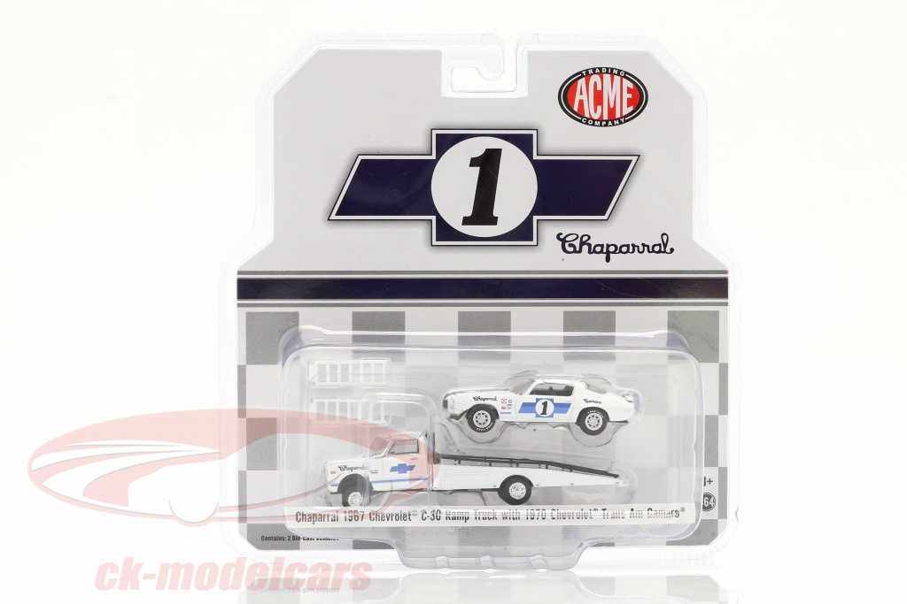 gmp-1-64-chevrolet-c30-ramp-truck-with-chevrolet-trans-am-camaro-no1-chaparral-51344/