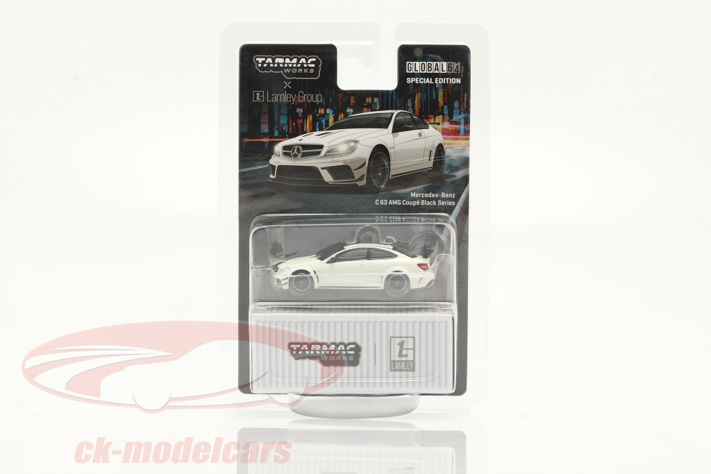 tarmac-works-1-64-mercedes-benz-c63-amg-coupe-black-series-blanche-t64g-009-dw/