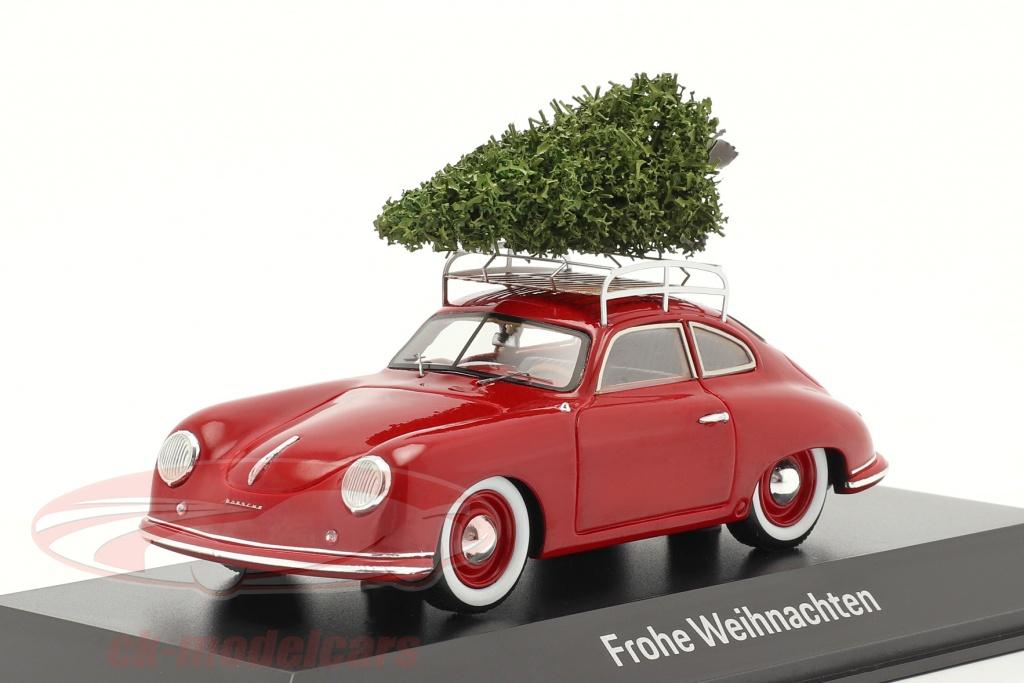 spark-1-43-porsche-356-rosso-insieme-a-albero-di-natale-map02010220/