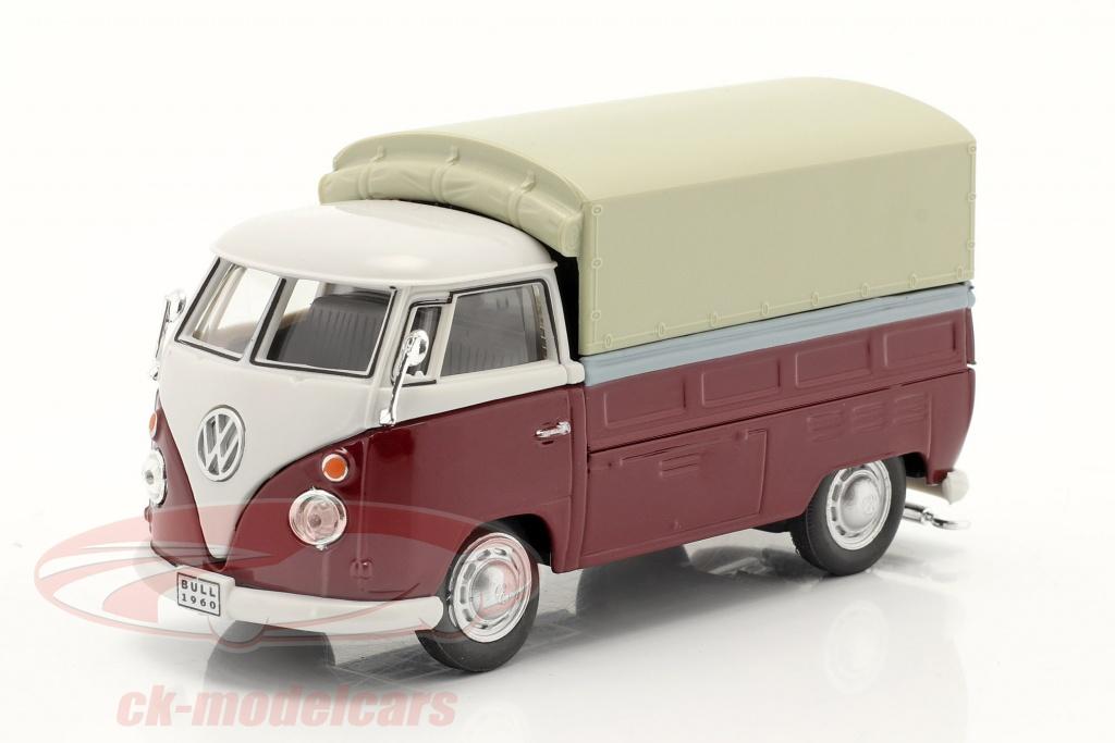 cararama-1-43-volkswagen-vw-t1-pick-up-mit-plane-rot-beige-251pnd6/