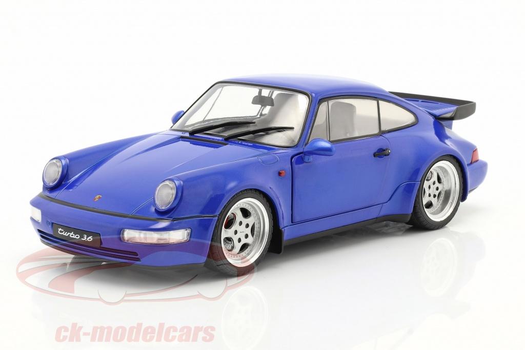 solido-1-18-porsche-911-964-turbo-year-1990-electric-blue-s1803405/
