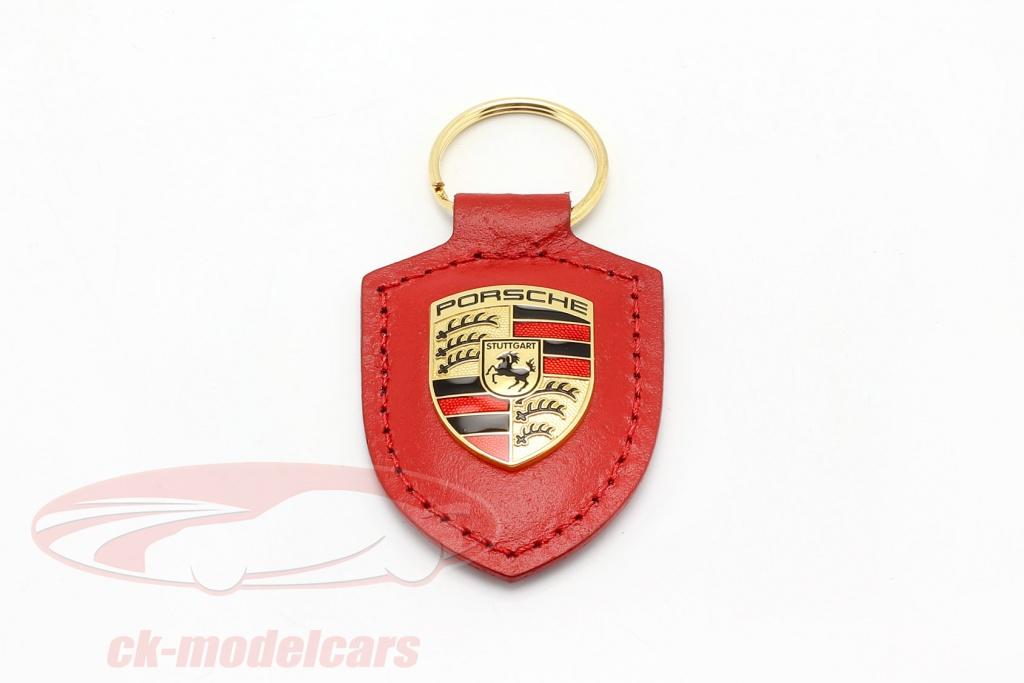 porte-cles-en-cuir-porsche-blason-rouge-wap0500920e/