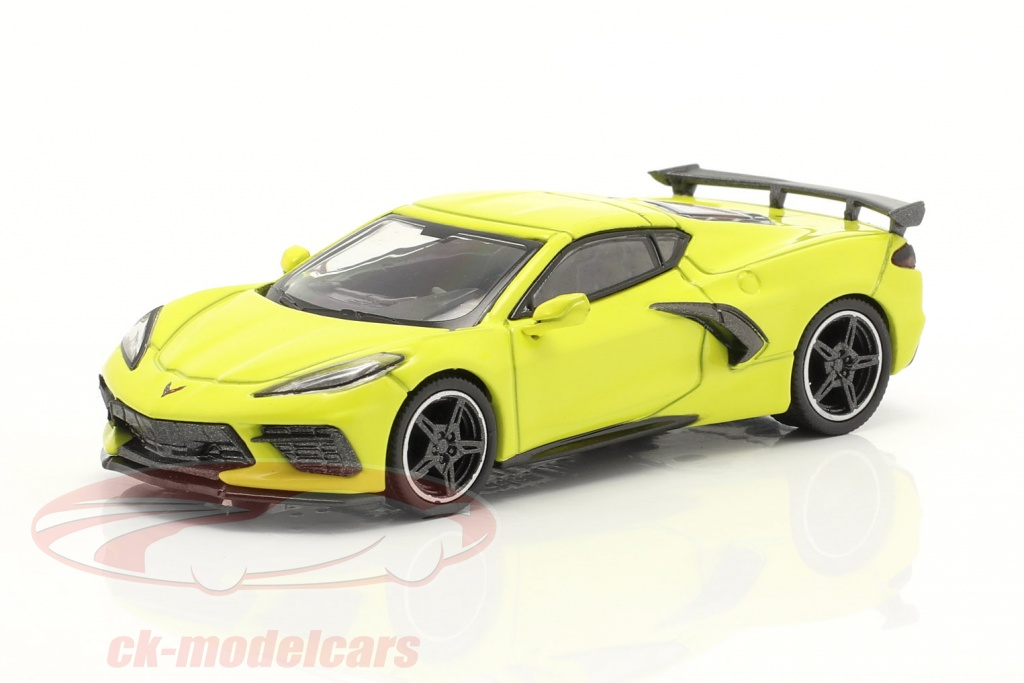 true-scale-1-64-chevrolet-corvette-stingray-lhd-year-2020-accelerate-yellow-mgt00195-l/