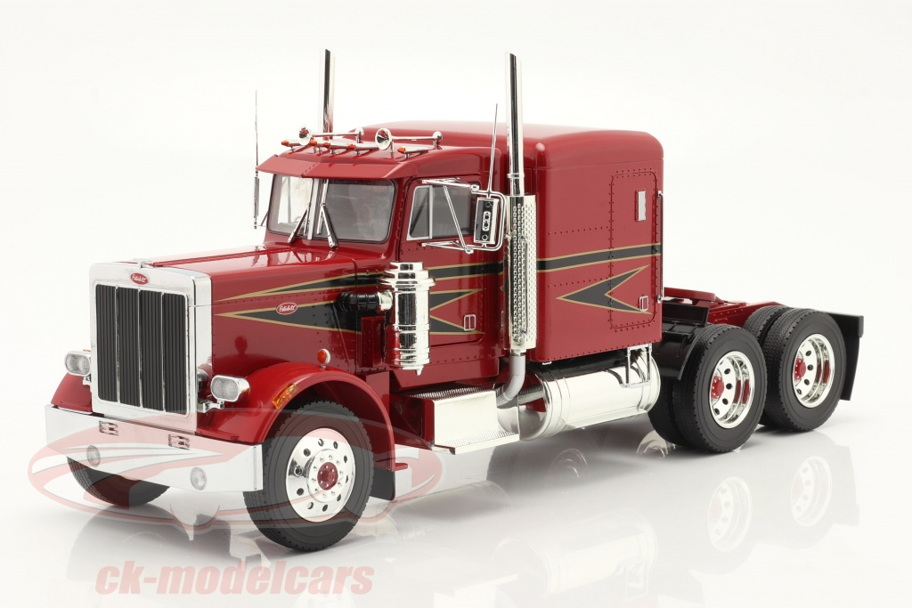 road-kings-1-18-peterbilt-359-bull-nose-vrachtauto-1967-rood-zwart-rk180086/