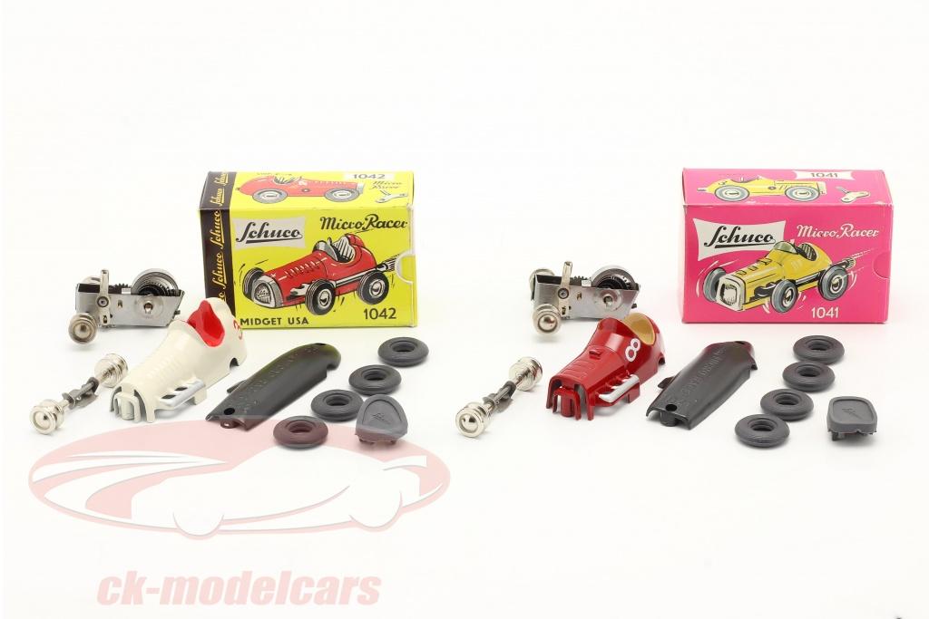 schuco-1-45-2-car-micro-racer-set-di-montaggio-midget-no8-no3-450162000/