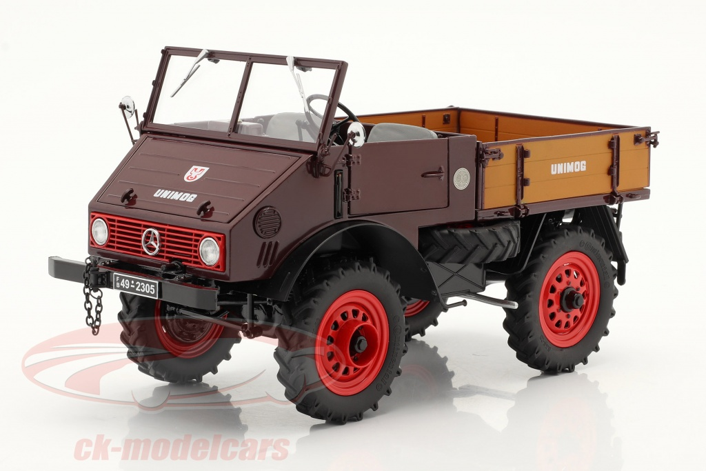 schuco-1-18-mercedes-benz-unimog-401-with-softtop-year-1953-56-red-450017500/
