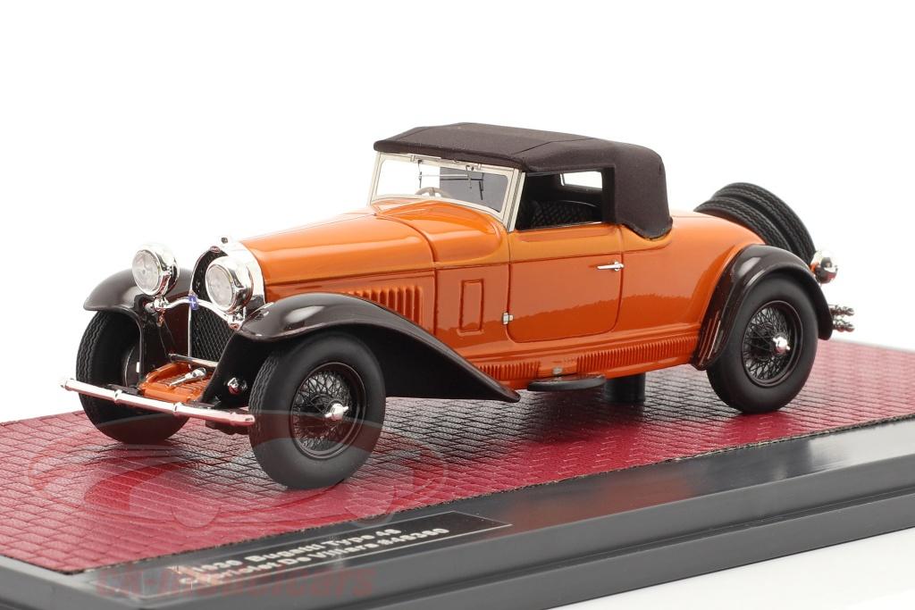 matrix-1-43-bugatti-type-46-convertibile-de-villars-closed-top-1930-arancia-marrone-mx50205-062/