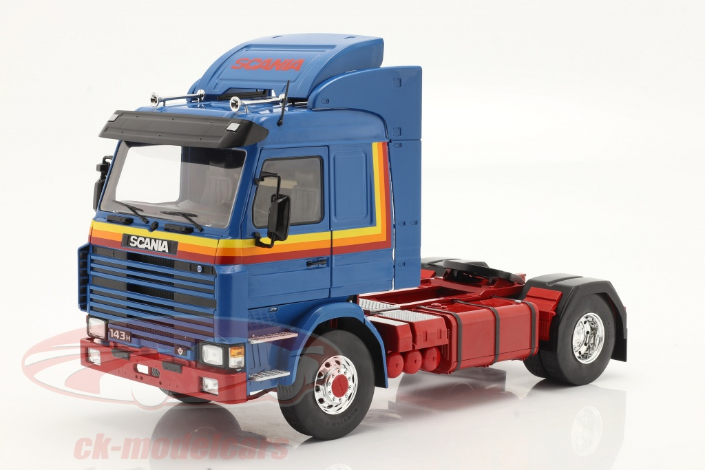 modelcar-group-1-18-scania-143-topline-sattelzugmaschine-1987-blau-gelb-rot-mcg18144/