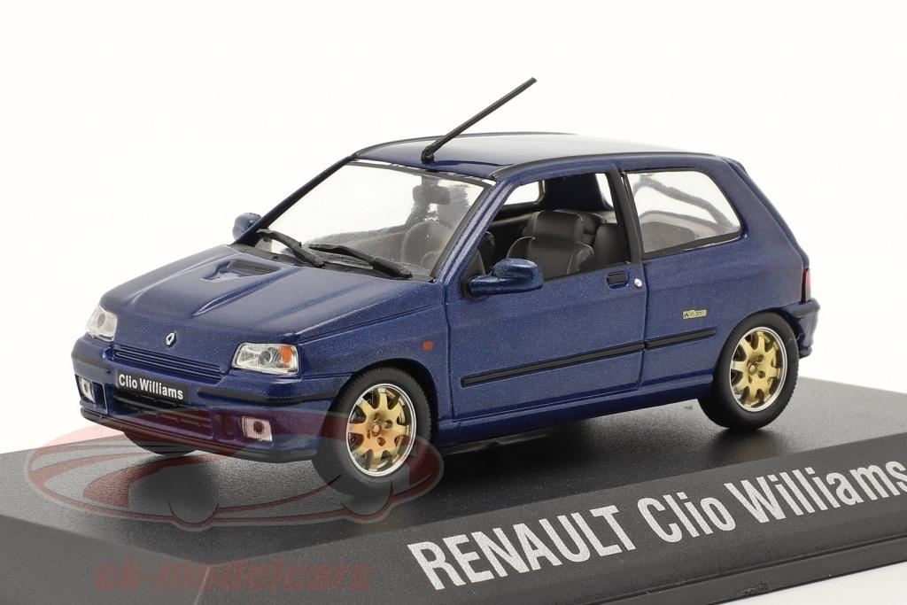 norev-1-43-renault-clio-williams-annee-de-construction-1996-bleu-fonce-7711575963/