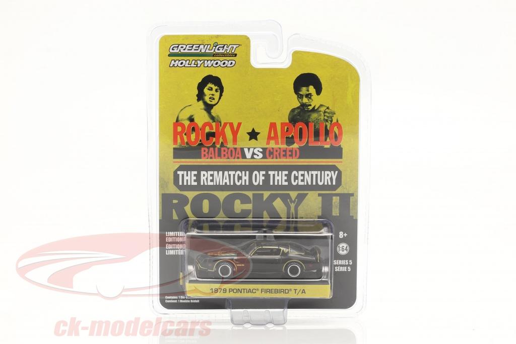 greenlight-1-64-pontiac-firebird-trans-am-movie-rocky-ii-1979-black-gold-44650c/