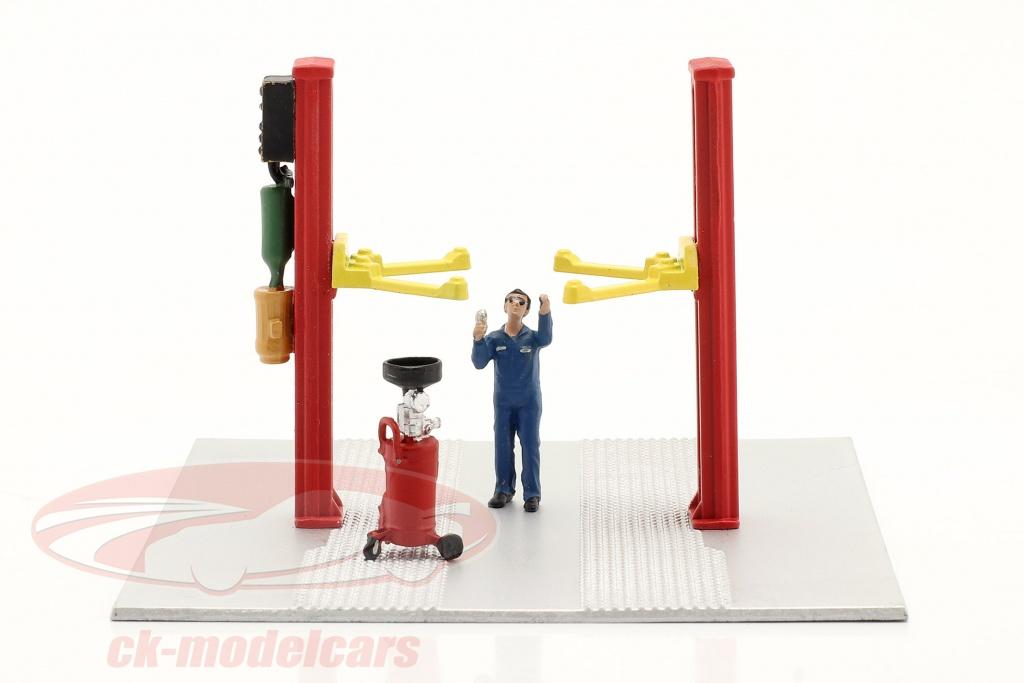 deux-postes-ascenseur-huile-egoutter-rouge-1-64-american-diorama-ad38375/