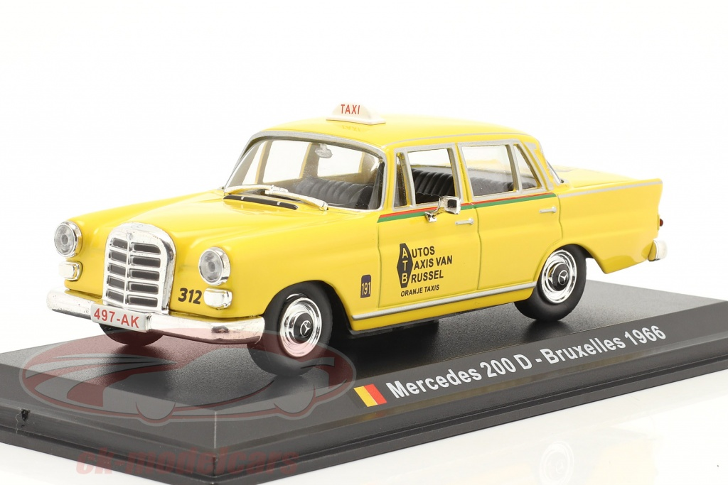 altaya-1-43-mercedes-benz-200-d-taxi-bruxelles-1966-jaune-magtx28/
