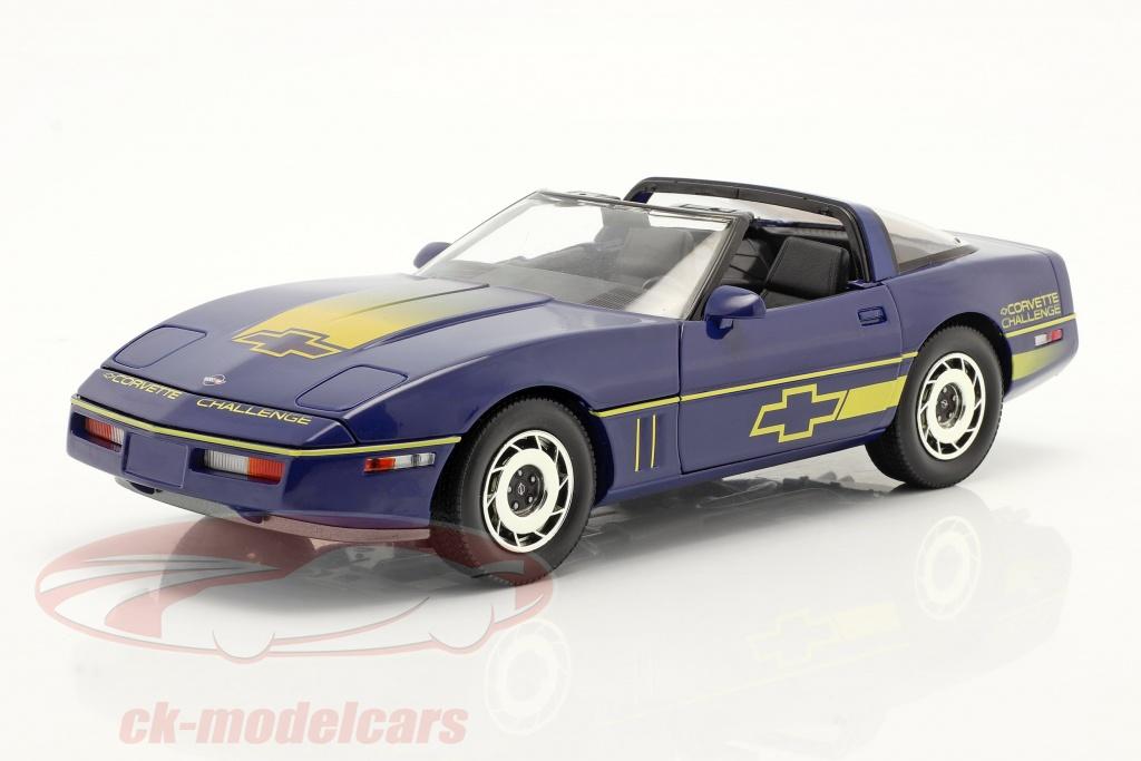 greenlight-1-18-chevrolet-corvette-c4-annee-de-construction-1988-bleu-jaune-13597/