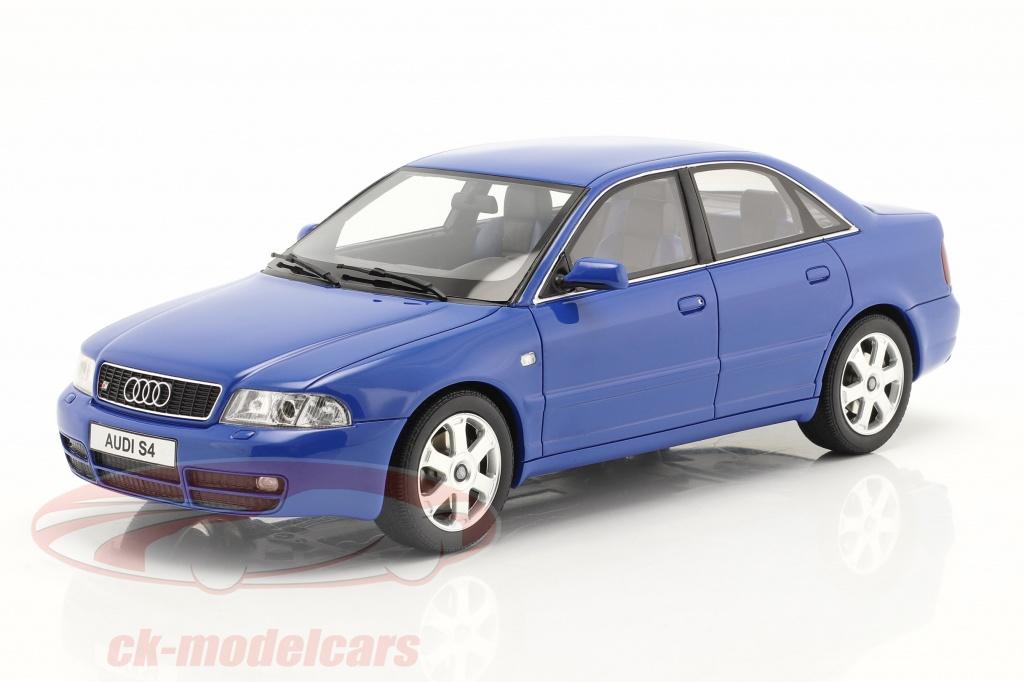 ottomobile-1-18-audi-s4-b5-27l-biturbo-ano-de-construccion-1998-nogaro-azul-ot373/
